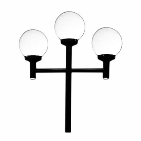 Poste Decorativo com 3 Globos Pequenos
