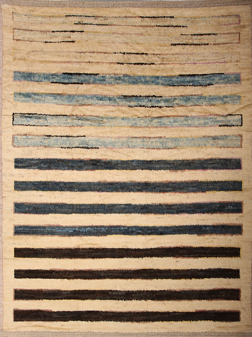 Handmade 100% Wool Afghanistani Rug | 8.4 X 10.11