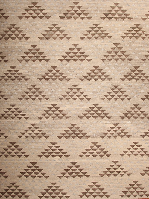 Wool Indian Flat Weave Rug | 8.1 X 9.10