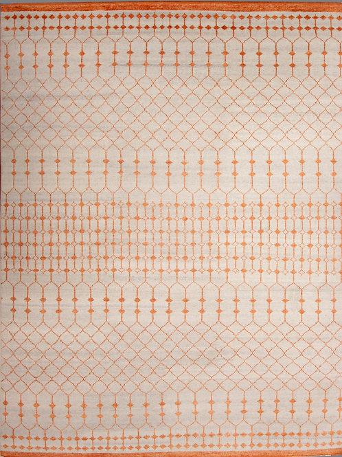 Handmade Wool and Viscose | 9 X 12