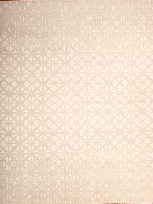 Viscose & Wool Indian Rug | 8.0 X 10.0