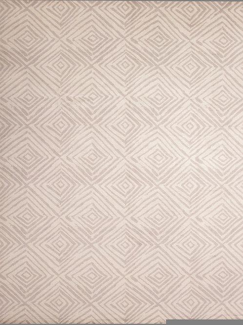 Handmade Silk and Wool Tibetan-Style Rug | 8.1 X 10.1