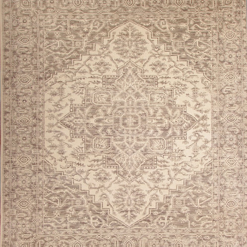 Handmade 100 % Wool Pile Indo Serapi | 8.2 X 9.10