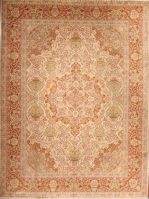 Silk Antique Persian Rug Kashmir   9.0 X 12.0