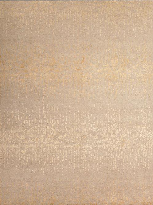 Handmade Silk and Wool Tibetan-Style Rug   8.2 X 10.1