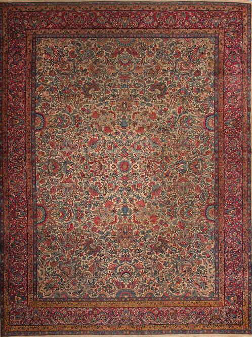 Wool Antique Persian Rug Ravar Kerman   8.8 X 11.6