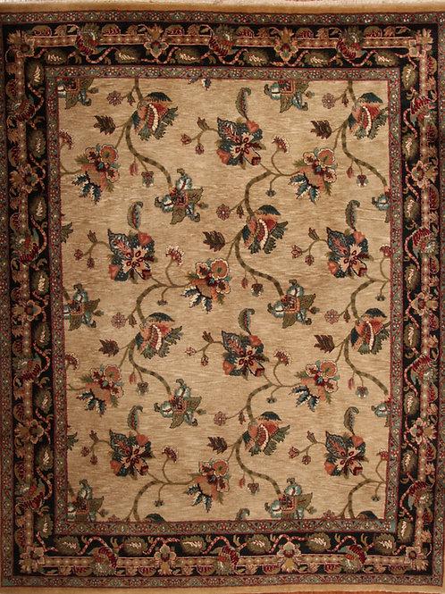 Wool Indian Rug Vintage | 8.1 X 9.10