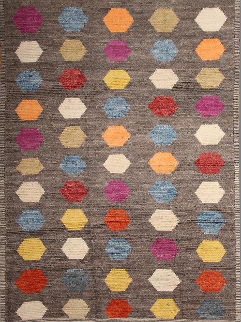 Handmade 100% Wool Afghanistani Rug | 6.7 X 9.6