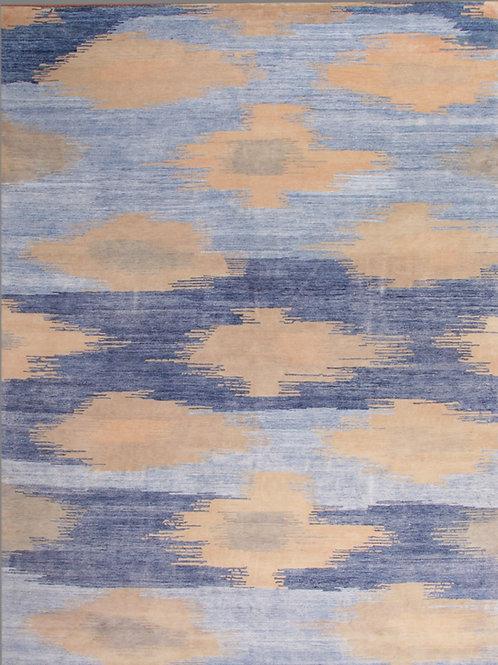 Handmade Silk and Wool Rug | 8 X 10