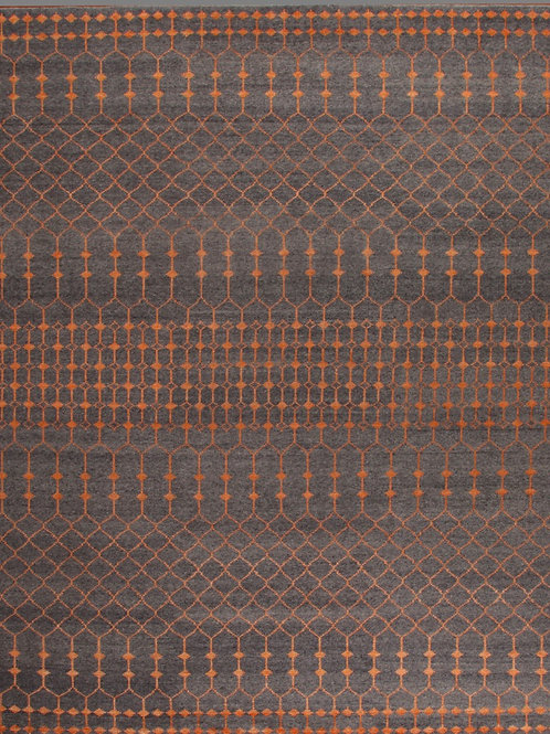 100% Wool Pile Indian Rug | 8 x 10