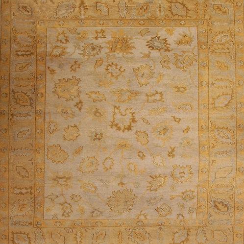 Handmade 100 % Wool Pile Indo Oushak | 8.9 X 9.9