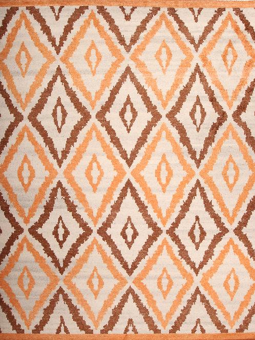 Viscose Indian Rug Moroccan Design | 8.0 X 10.0
