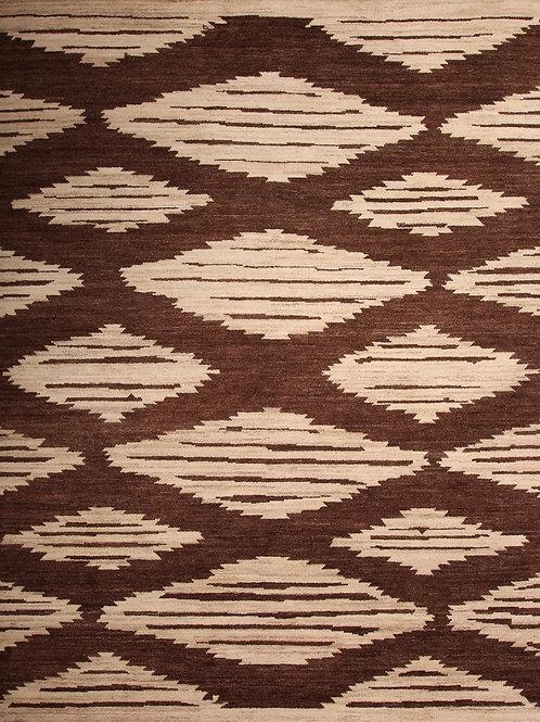 100% Wool Pak Moroccan Rug   9.3 X 11.11