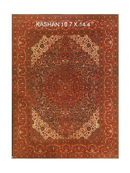 Antique Kashan | 10.7 x 14.4