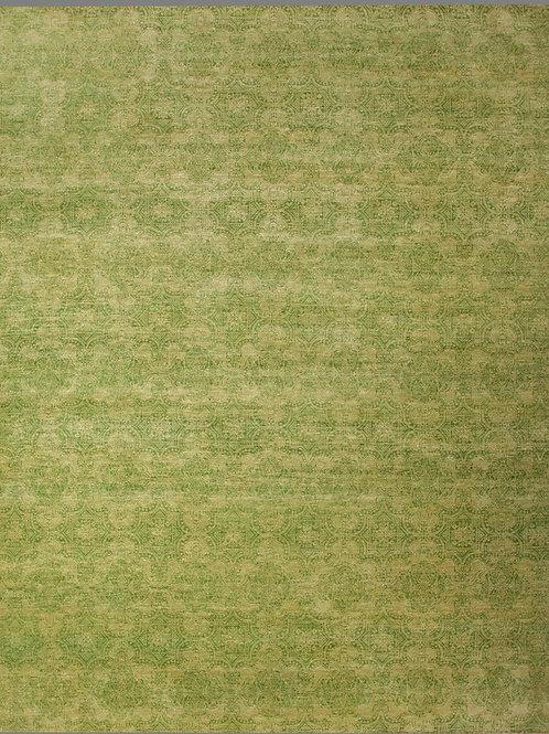 Handmade Wool and Silk Indian Rug | 7.9 X 9.9