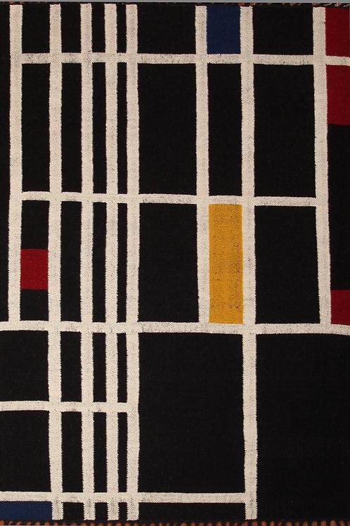 Handmade 100% Wool Indian Rug Durrie | 4.6 X 6.6