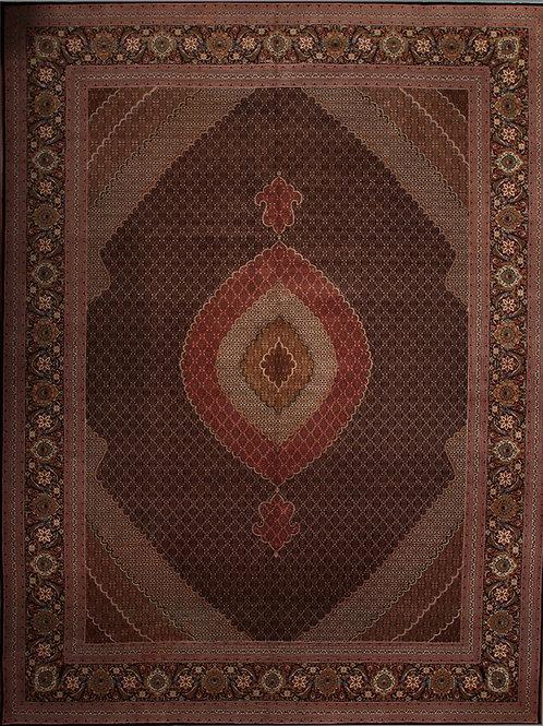 Fine Persian Tabriz Silk & Wool| 11.5 X 16.1
