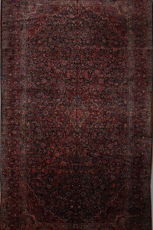 Antique Fine Kork Persian Kashan | 10.8 X 19.8