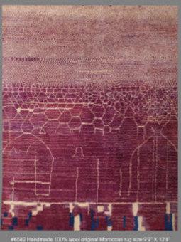 Handmade 100% Wool Original Moroccan Rug| 9.9X 12.8