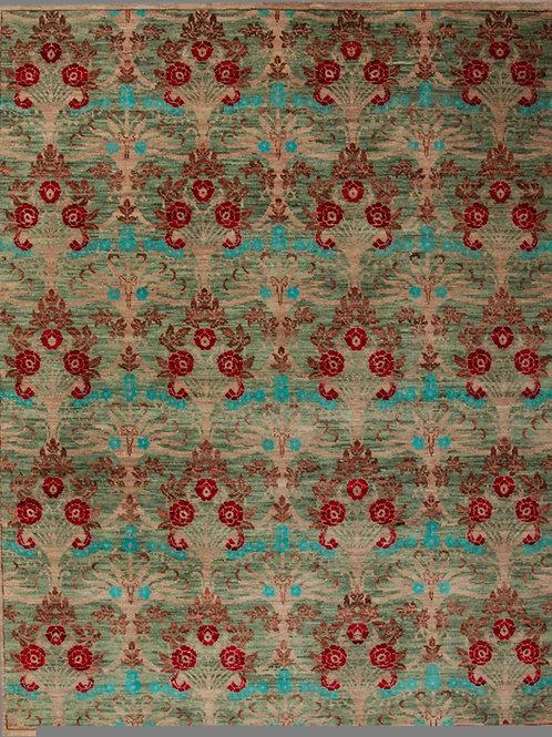 Handmade 100% Wool Magnolia Rug | 8 X 10.1