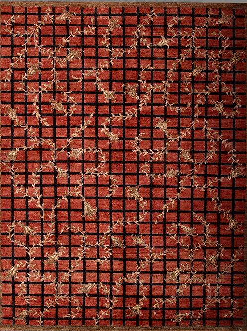 Handmade 100% Wool Modern Rug | 8 X 10.3