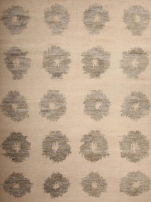 Handmade Silk and Wool Indian Rug | 7.7X 10.4