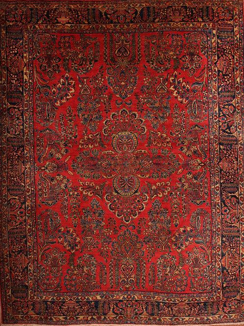 Wool Antique Persian Rug Saruk   9.0 X 11.8