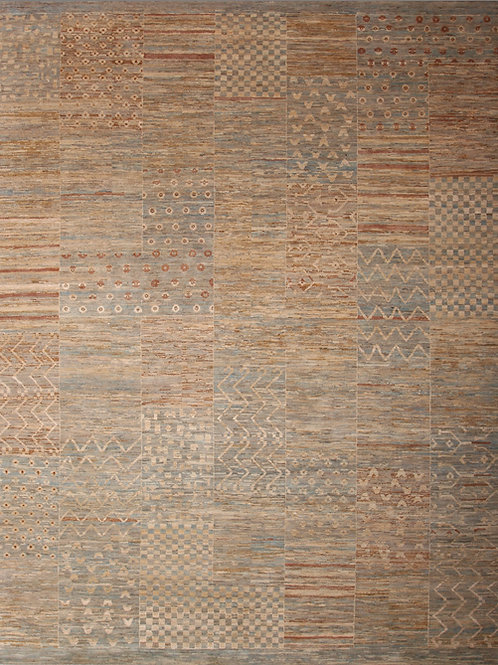 Fine Handmade Wool Indian Rug | 8 X 9.9