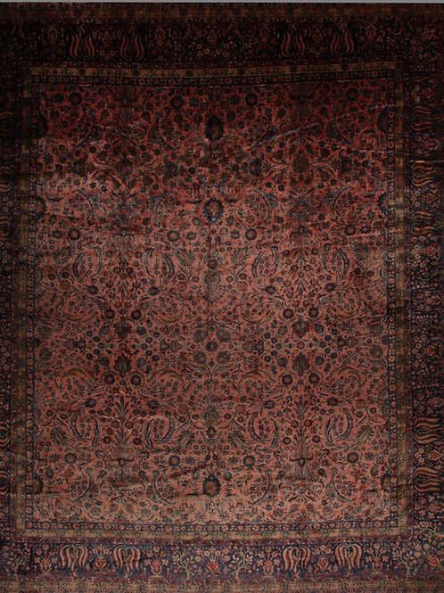 Antique Kork Manchester Kashan | 16 X 18.9