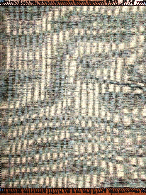 Wool Indian Flat Weave Rug | 8.0 X 10.0