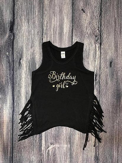 Side Fringe Tank | Birthday Girl