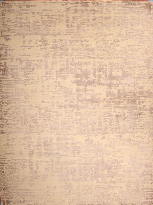 Wool & Viscose Indian Rug | 9.2 X 12.0