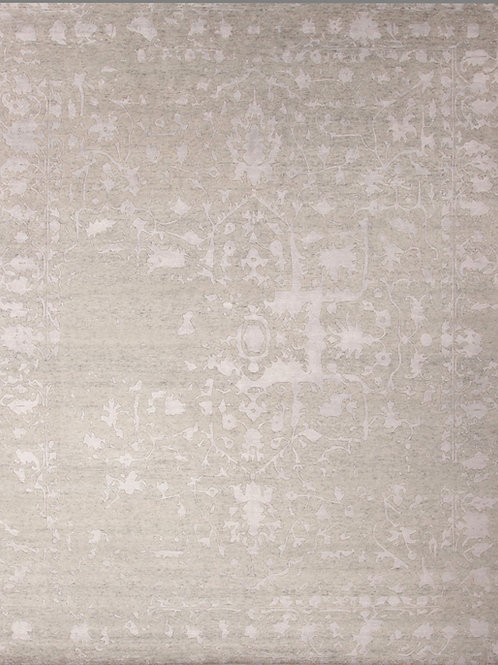 Bamboo Silk and Wool Indian Rug   8 X 9.11