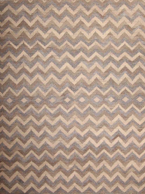 Wool Indian Flat Weave Rug   8.2 X 10.1