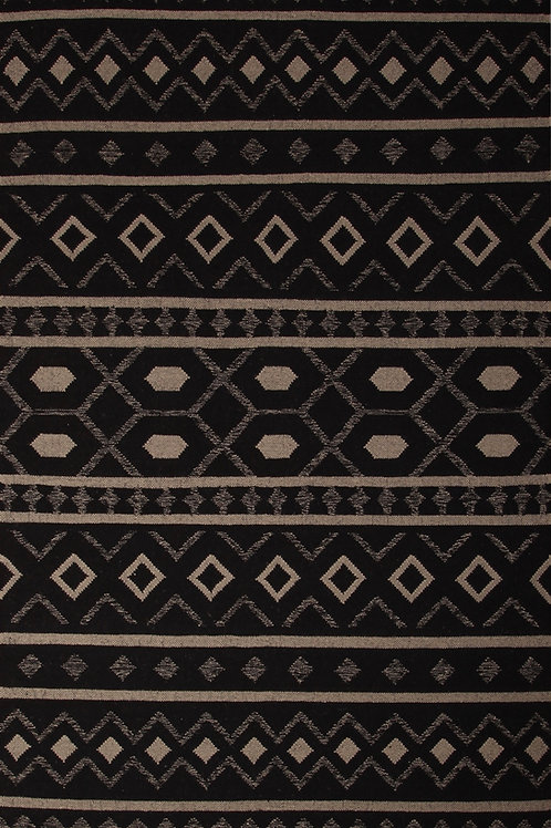 Handmade 100% Wool Indian Rug Durrie | 5. 3 X7.6