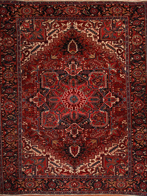 Wool Persian Rug Heriz | 8.8 X 12.0
