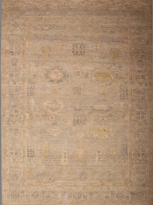 Handmade Silk Indian Rug | 7.10 X 10.9