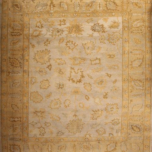 Wool Indo Oushak Rug | 8.9 X 9.9