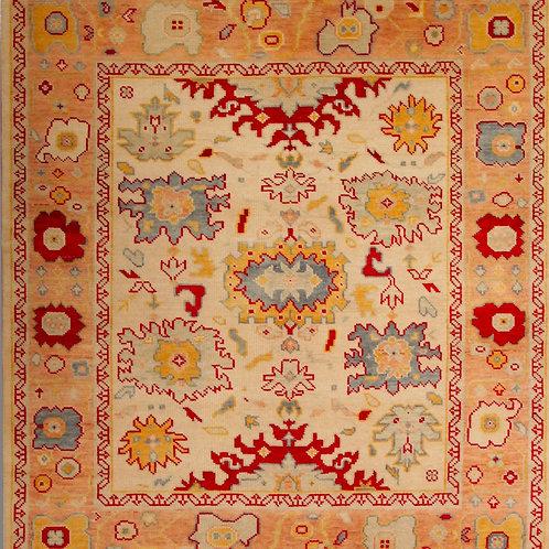 100% Wool Pile Indo Oushak  | 8.1 X 9.9