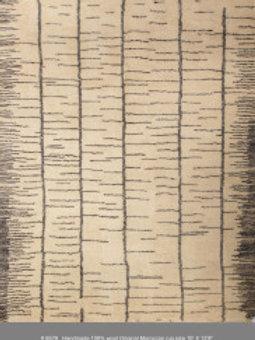 Handmade 100% Wool Original Moroccan Rug | 10X 12.8