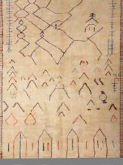 Handmade 100% Wool Original Moroccan Rug | 10X 13