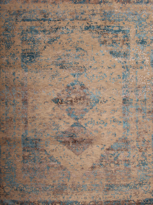 Wool & Viscose Indian Rug | 8.1 X 10.4