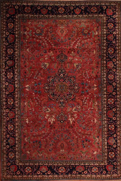 Wool Antique Farahan Rug | 8.5 X 12.4