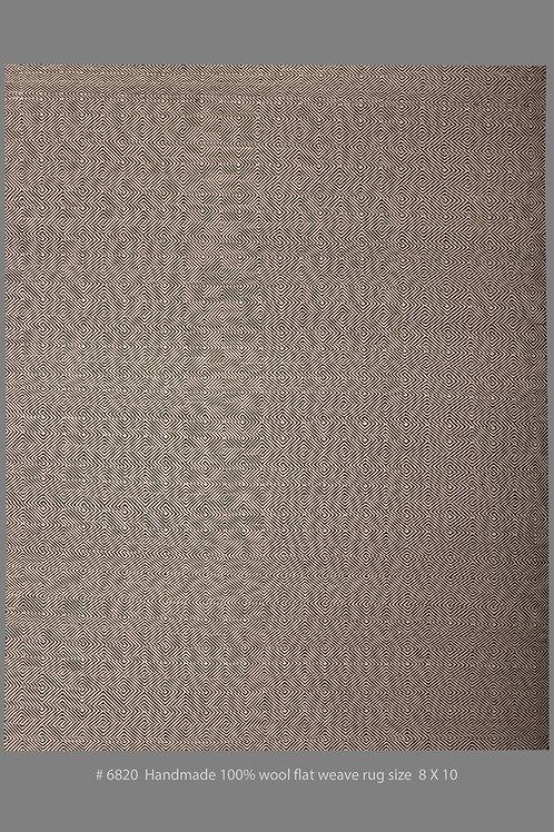 Handmade 100% Wool Flat Weave Rug | 8 X 10