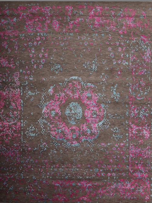 Handmade high quality Silk and Wool Indian Rug | 8 X 10