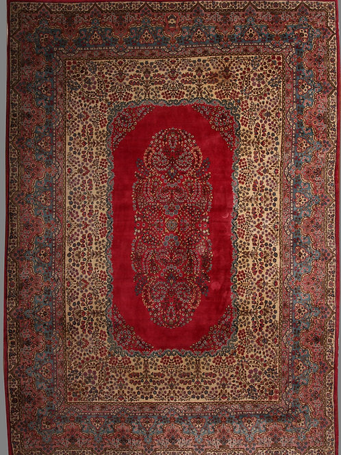 Antique Ravar Kerman (with crown at the top)  | 8.10 X 12.2