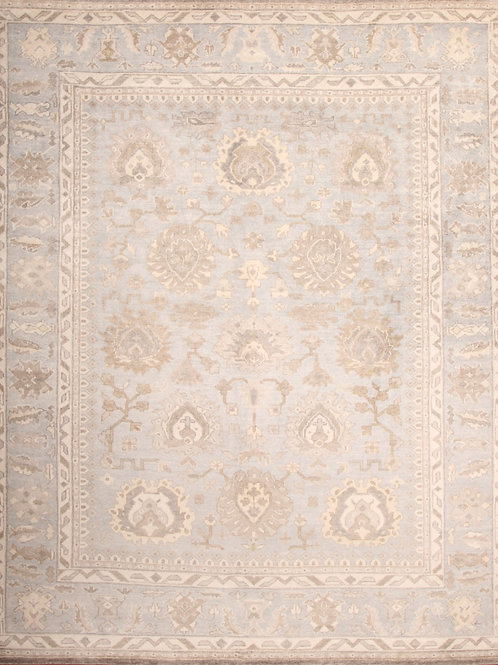 Viscose Indian Rug Oushak Design | 8.0  X 9.11