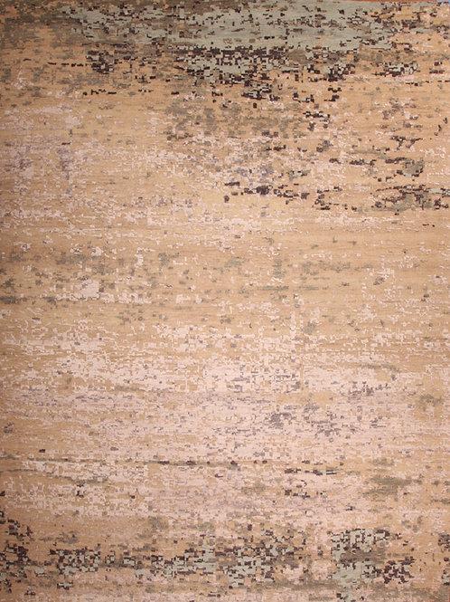 Wool & Viscose Indian Rug | 9.0 X 12.2