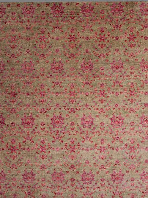 Handmade 100% Wool Pile Indian Rug | 9.3 x 12