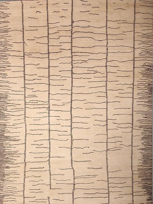 Handmade 100% Wool Pile Pak Moroccan | 8.8 X 11.10
